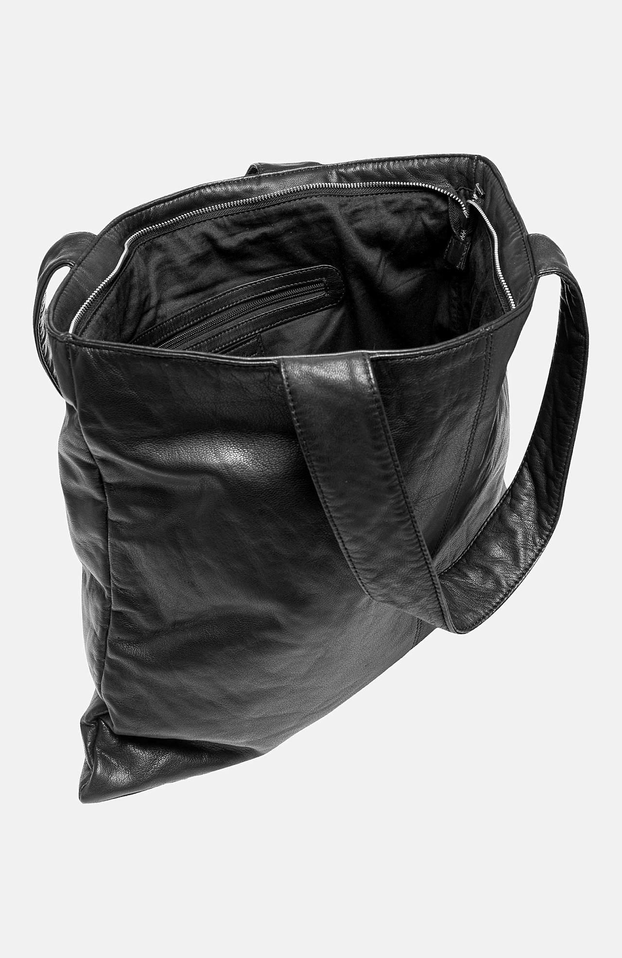 Ādas soma + maza somiņa