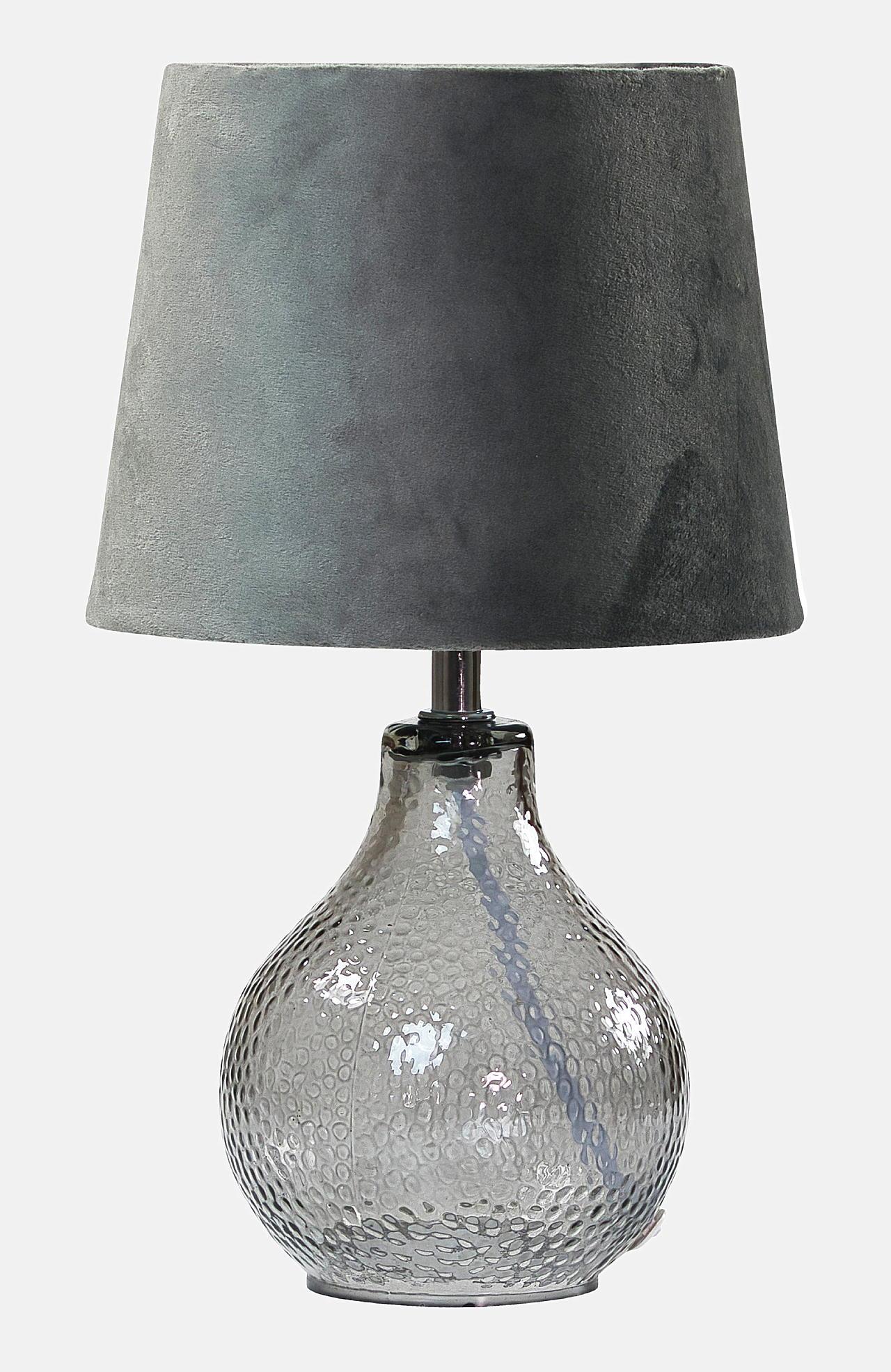 Galda lampa Julia stikls/samts 31 cm