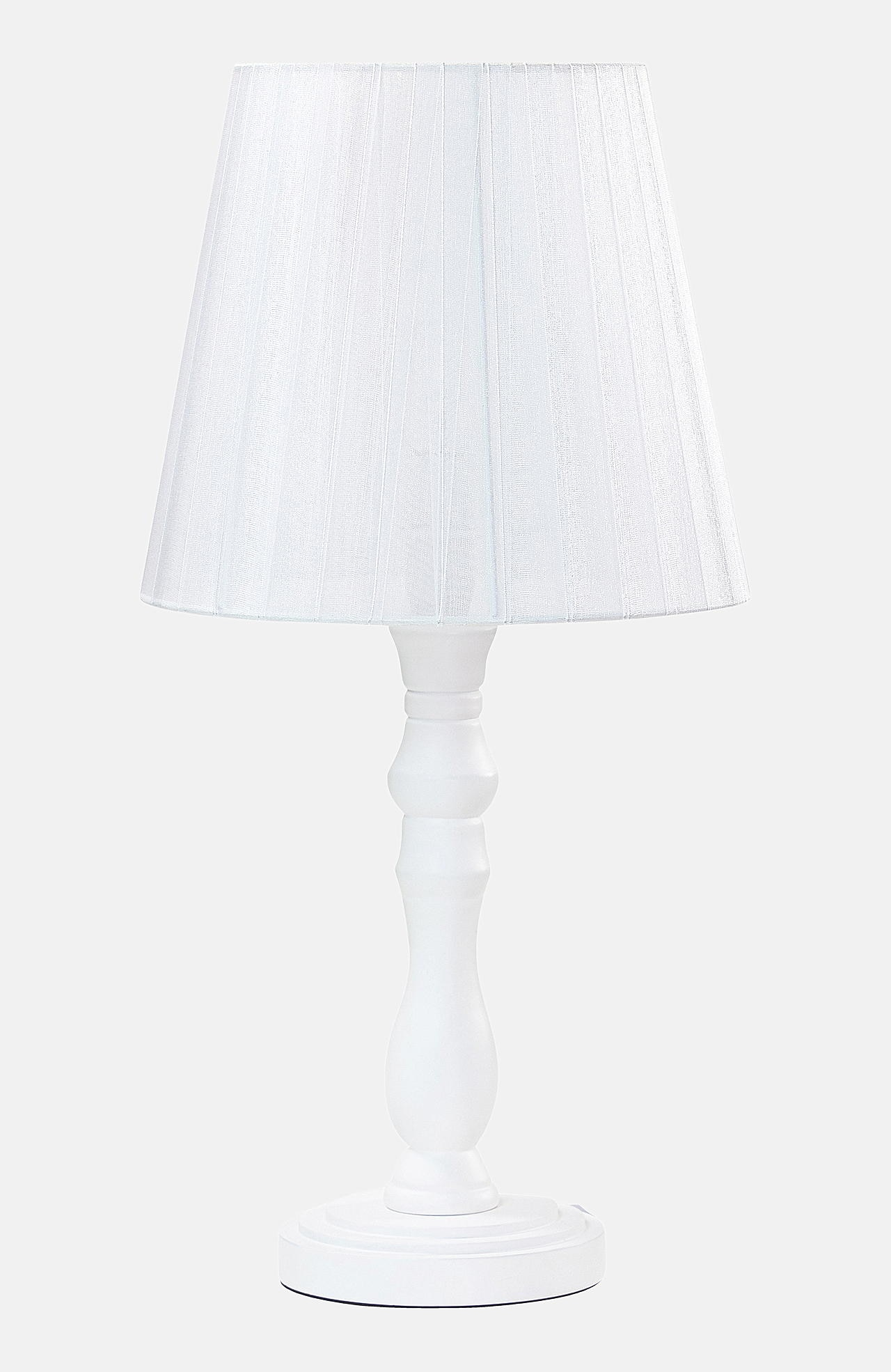 Galda lampa Elīna no koka/organzas