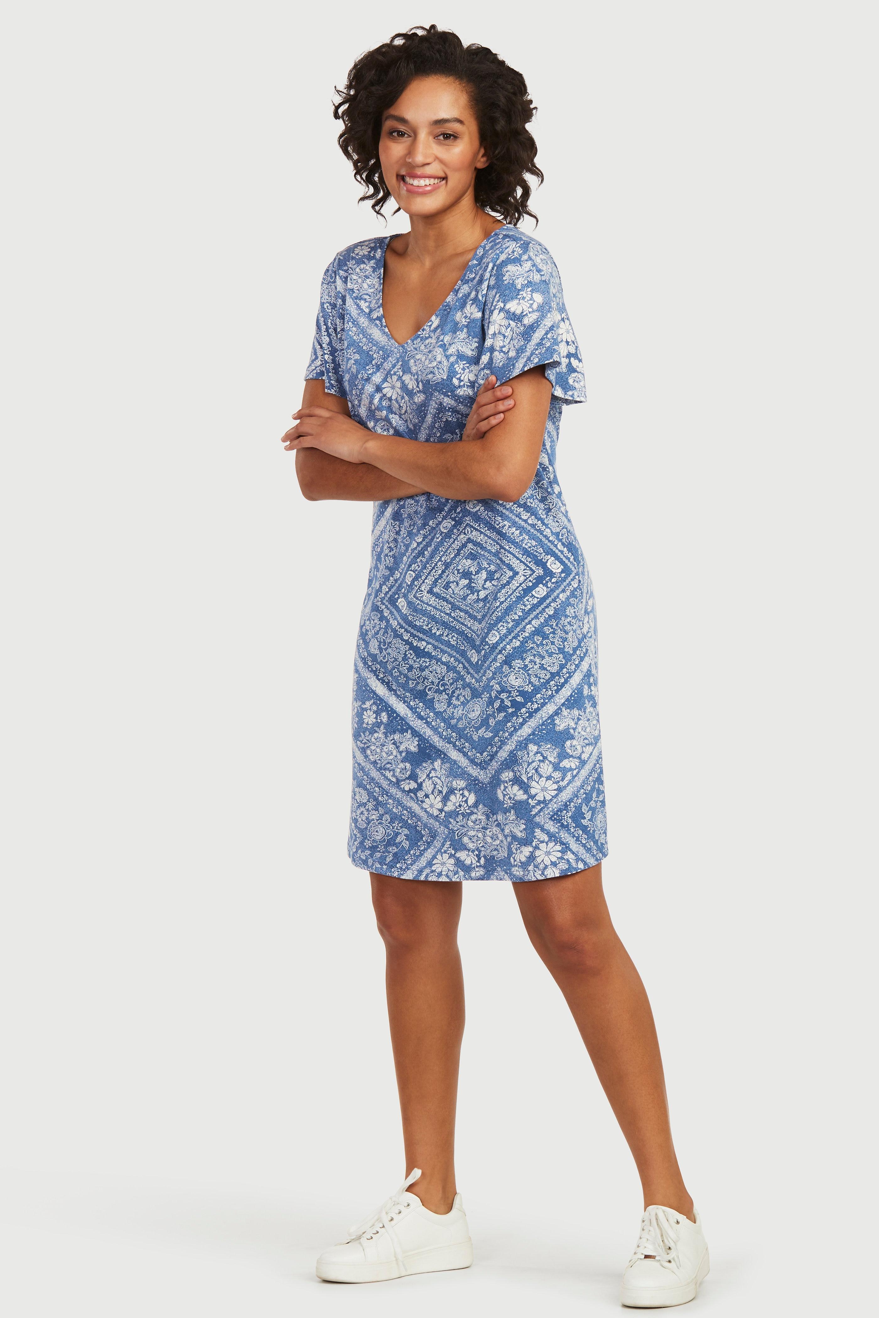 Rakstaina trikotāžas kleita
