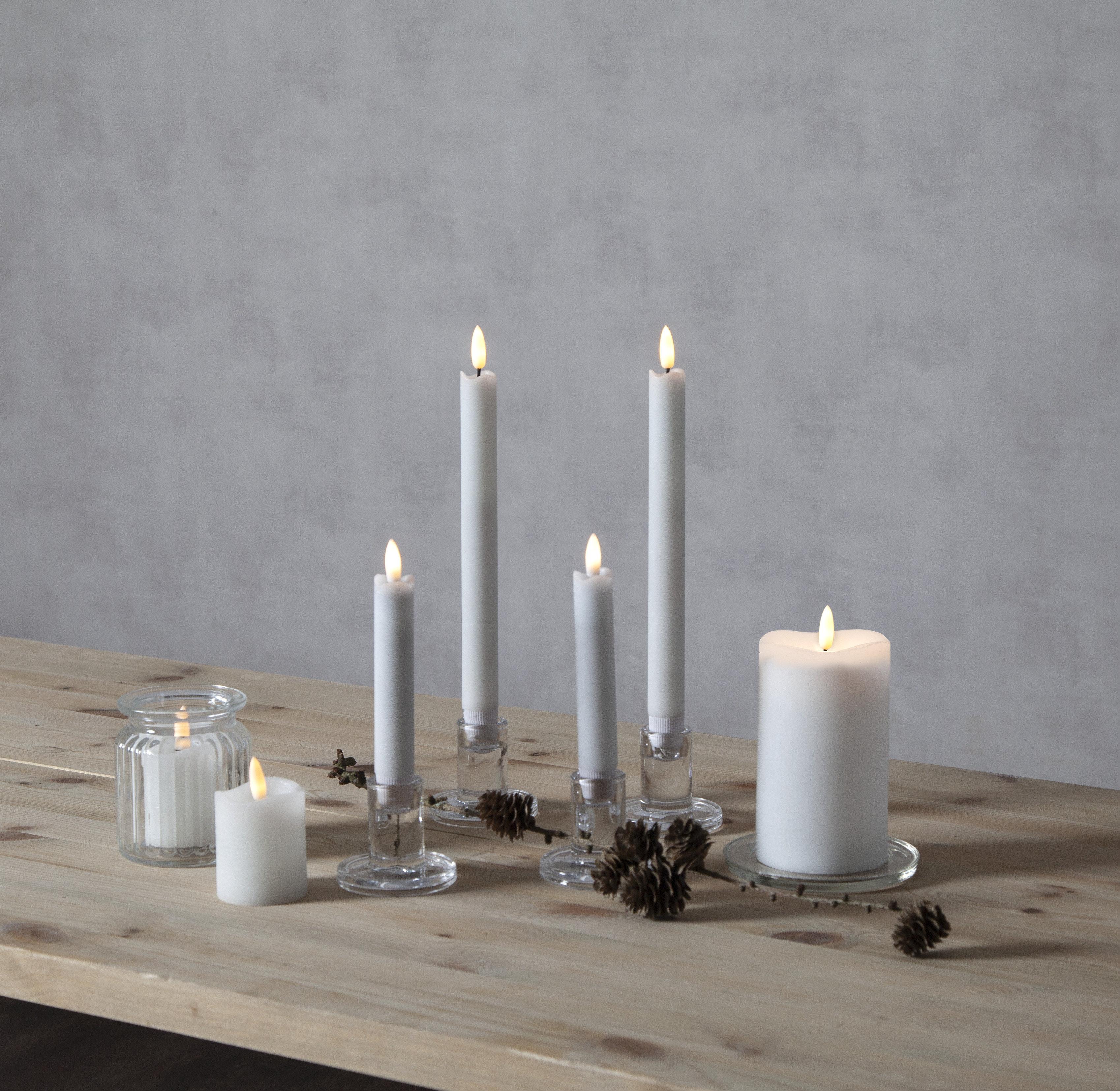 LED garas antīkās sveces Flamme kompl. 2 gabali