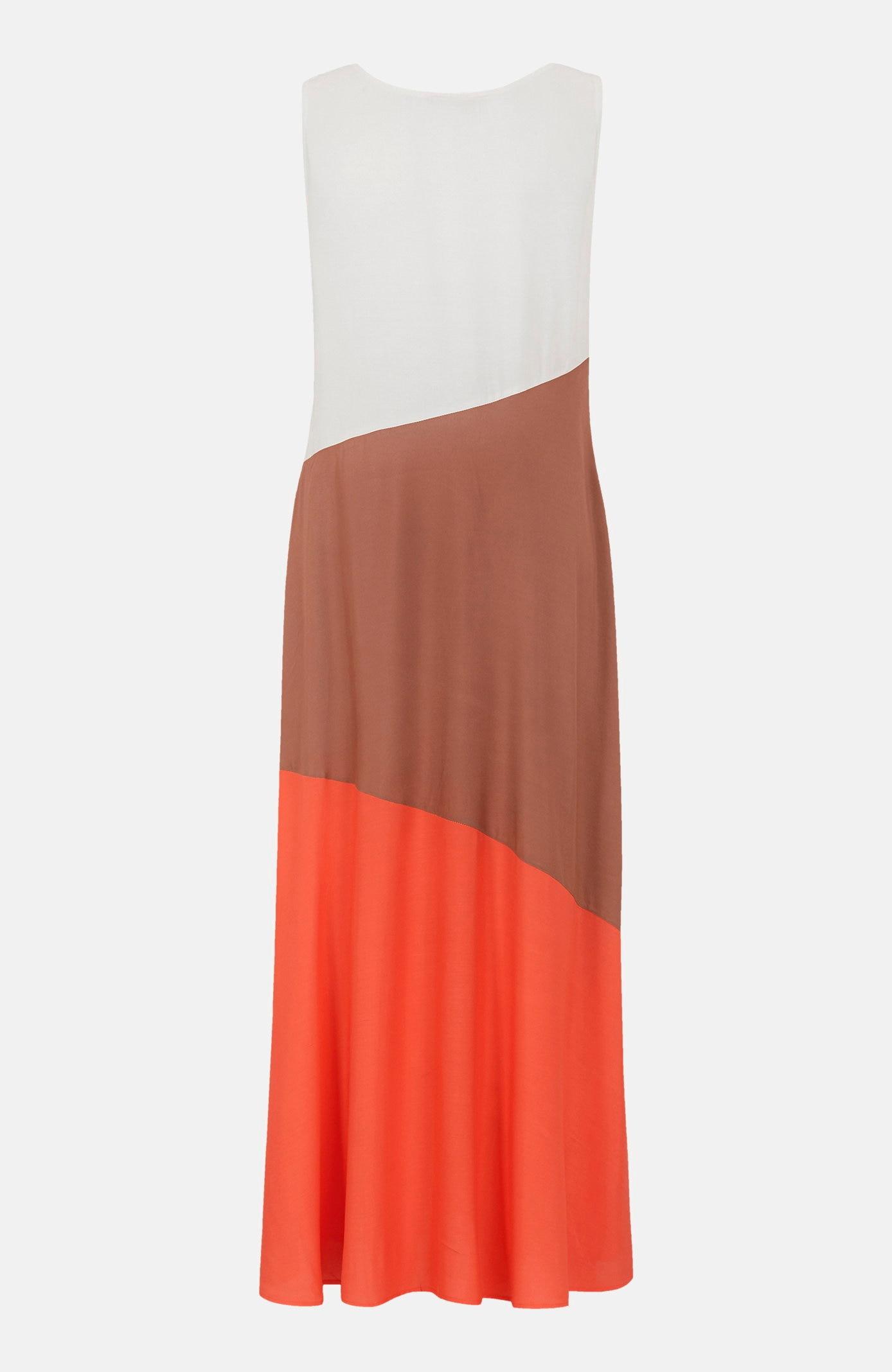 Krāsainu bloku viskozes kleita Suleva