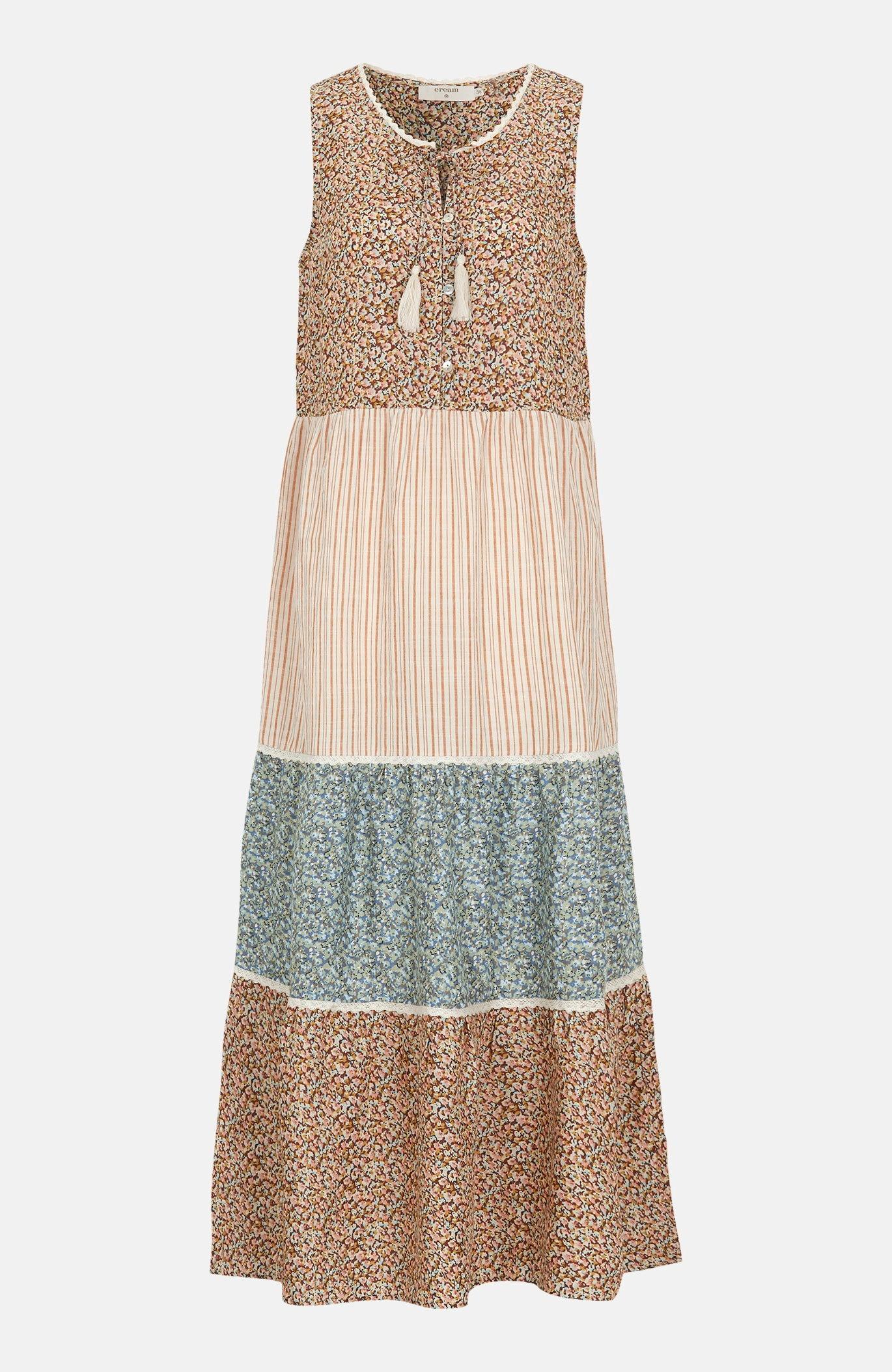 Rakstaina viskozes kleita Tallis