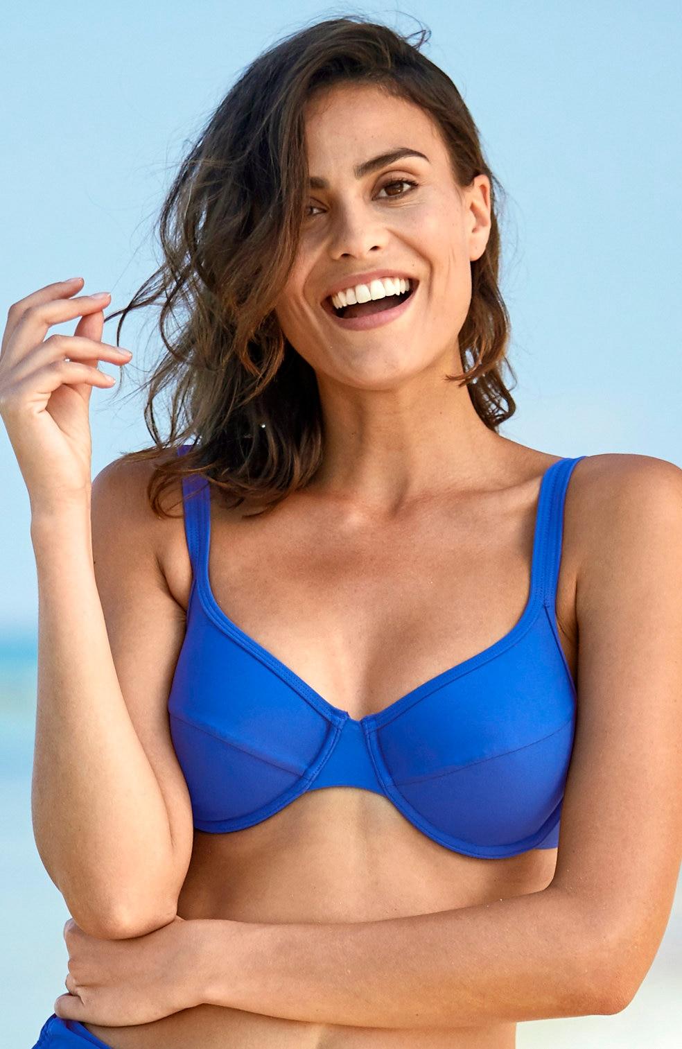 Zils bikini krūšturis ar stīpiņām
